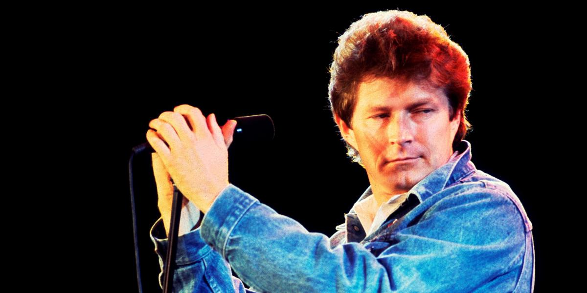Don Henley performing at Veteran's Stadium for the first Farm Aid Concert in Champaign, Illinois, September 22, 1985. (Photo by Paul Natkin/Getty Images)