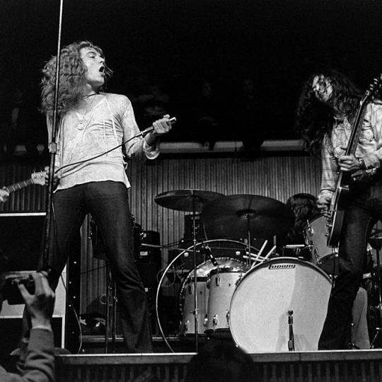Led Zeppelin performing in 1970