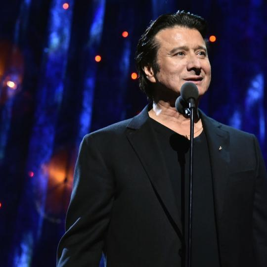 Inductee Steve Perry of Journey speaks onstage at the 32nd Annual Rock & Roll Hall Of Fame Induction Ceremony at Barclays Center on April 7, 2017 in New York City. The event will broadcast on HBO Saturday, April 29, 2017 at 8:00 pm ET/PT (Photo by Theo Wargo/WireImage for Rock and Roll Hall of Fame)