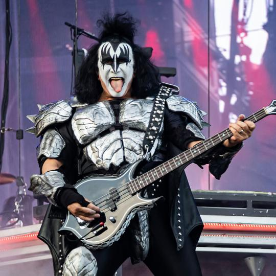 JUNE 27: Gene Simmons of Kiss on stage at the Tons of Rock festival on June 27, 2019 in Oslo, Norway. (Photo by Per Ole Hagen/Redferns)