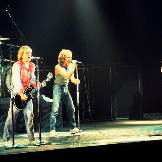 American-based rock band Foreigner performs onstage at the Rosemont Horizon, Rosemont, Illinois, November 8, 1981. Pictured are, from left, Dennis Elliot, on drums, Mick Jones, on guitar, vocalist Lou Gramm, and Rick Wills, on bass guitar. (Photo by Paul Natkin/Getty Images)