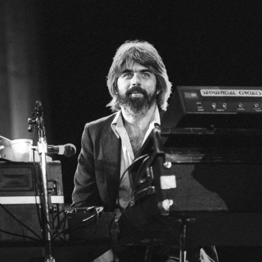 BERKELEY, UNITED STATES - SEPTEMBER 11: Michael McDonald performs with the Doobie Brothers at the Greek Theater in Berkeley, California on September 11, 1982. (Photo by Clayton Call/Redferns)