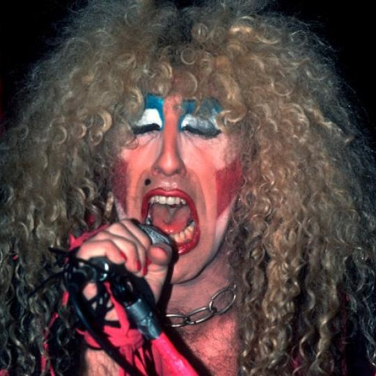 American Heavy Metal singer Dee Snider, of the group Twisted Sister, performs onstage at the Poplar Creek Music Theater, Hoffman Estates, Illinois, August 8, 1984. (Photo by Paul Natkin/Getty Images)