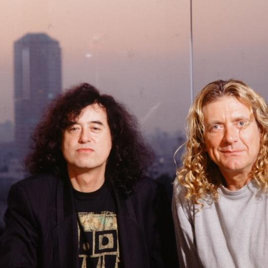Jimmy Page and Robert Plant in 1996