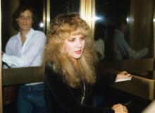 Stevie Nicks pictured in New York City on August 5, 1981.
