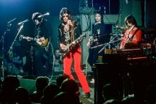 The Cars (Elliot Easton, Rick Ocasek, Benjamin Orr, Greg Hawkes) performing at The Paradise Theater June 29 1978 in Boston MA.