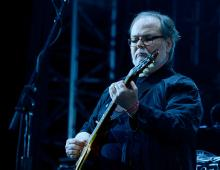 Musician Walter Becker of Steely Dan performs onstage during day 1 of the 2015 Coachella Valley Music & Arts Festival (Weekend 1) at the Empire Polo Club on April 10, 2015 in Indio, California. (Photo by Frazer Harrison/Getty Images for Coachella)