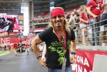 Musician Bret Michaels attends the game between the Detroit Lions and the Arizona Cardinals at State Farm Stadium on September 08, 2019 in Glendale, Arizona. (Photo by Christian Petersen/Getty Images)