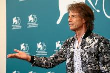 "Mick Jagger attends ""The Burnt Orange Heresy"" photocall during the 76th Venice Film Festival at Sala Grande on September 07, 2019 in Venice, Italy. (Photo by Matteo Chinellato/NurPhoto via Getty Images)"