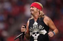 GLENDALE, ARIZONA - SEPTEMBER 08: Musician Bret Michaels performs during a half-time show at the NFL game between the Arizona Cardinals # of the Arizona Cardinals and the Detroit Lions # of the Detroit Lions at State Farm Stadium on September 08, 2019 in Glendale, Arizona. (Photo by Christian Petersen/Getty Images)