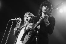 Singer Mick Jagger and guitarist Keith Richards