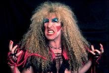 Portrait of American Heavy Metal singer Dee Snider, of the group Twisted Sister, as he poses backstage at the Rosemont Horizon, Rosemont, Illinois, December 21,1984. (Photo by Paul Natkin/Getty Images)