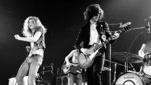 LOS ANGELES - JUNE 03: Rock band 'Led Zeppelin' performs onstage at the Forum on June 3, 1973 in Los Angeles, California. (L-R) Robert Plant, John Paul Jones, Jimmy Page, John Bonham. (Photo by Michael Ochs Archives/Getty Images)