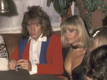 Rod Stewart and Britt Ekland in 1977