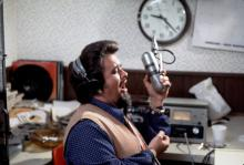 Wolfman Jack in the studio