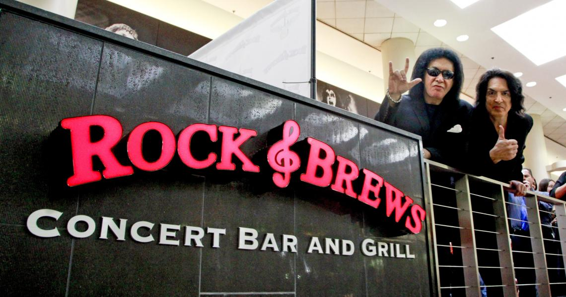 Gene Simmons and Paul Stanley of KISS at Rock & Brew