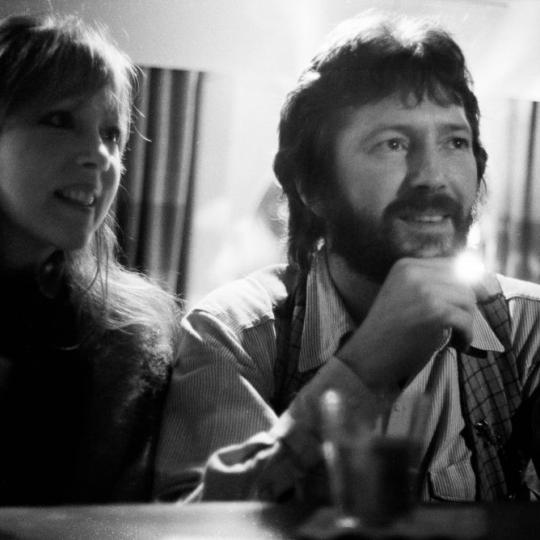 Pattie Boyd and Eric Clapton in 1977