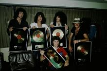 Rainbow receive gold records in Japan, 1981